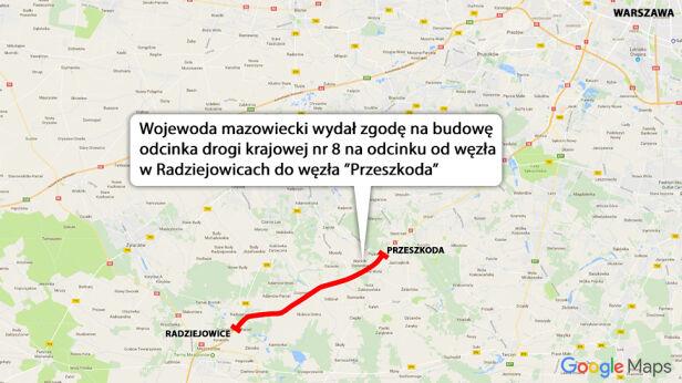 Przebudowa drogi krajowej S8 TVN24