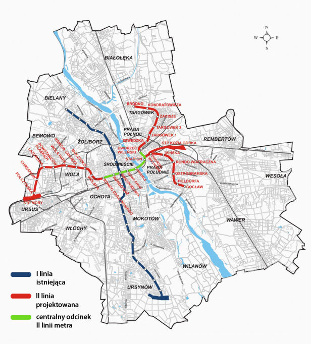 Schemat metra warszawskiego metro.waw.pl/grafika TVN24