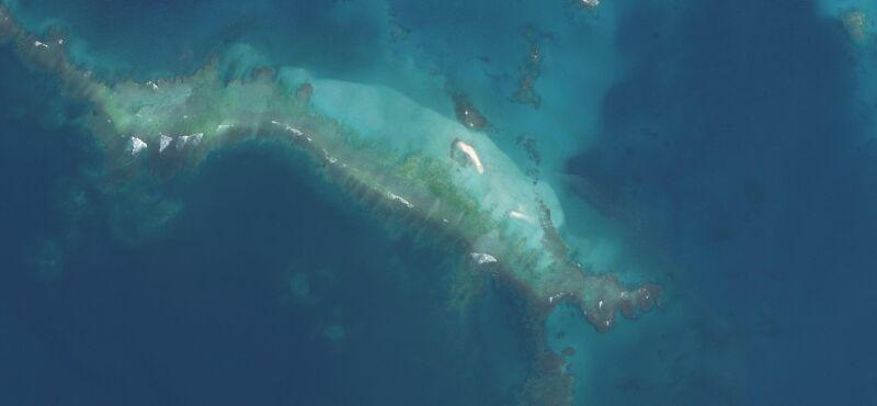 Tak wyspa East Island wygląda teraz (United States Fish and Wildlife Service)