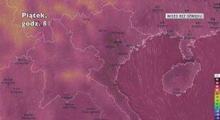 Temperatura w północnej części Wietnamu w ciągu ostatnich dwóch dni (Ventusky.com)