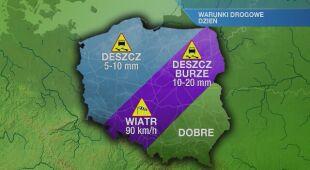 Warunki drogowe w poniedziałek 31.08